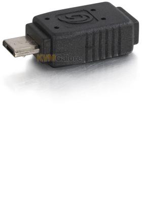 Black C2G 27367 C2G USB 2.0 Mini-b Female to Micro-USB B Male Adapter