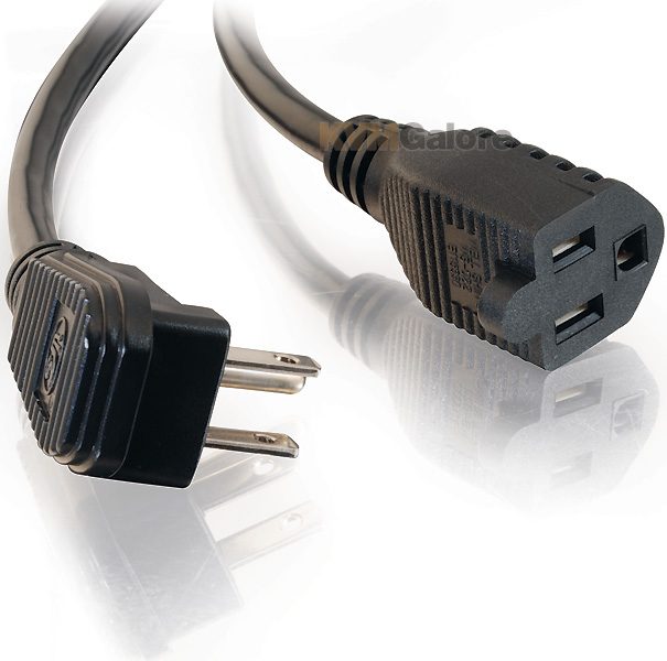 Plugs Into An Extension Cord : Flat plug power strip plus extension cord feet