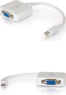 Mini DisplayPort to VGA Active Adapter/Converter, White