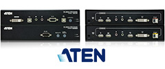 Fiber-Optical DVI-USB KVM Extenders