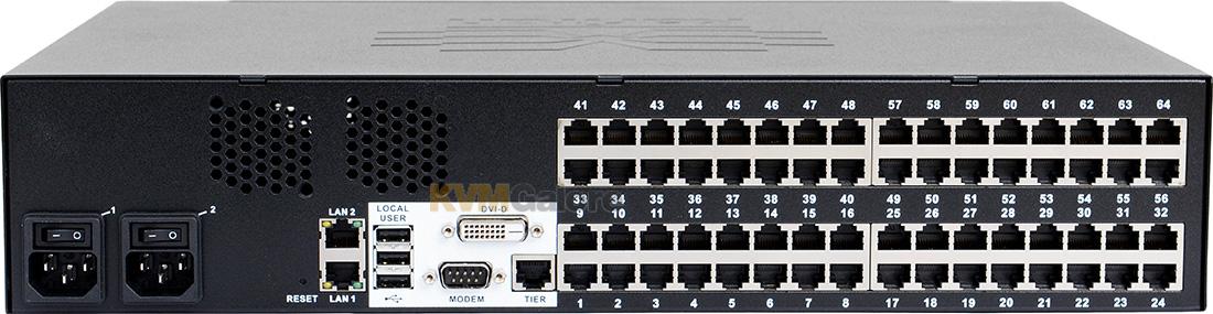 remote user + 1 local user KVM-over-IP switch | DKX3-464 | Raritan