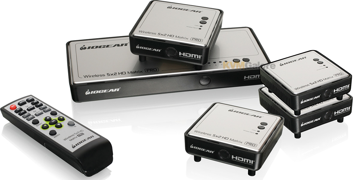 Long Range Wireless 5x5 HDMI Matrix PRO